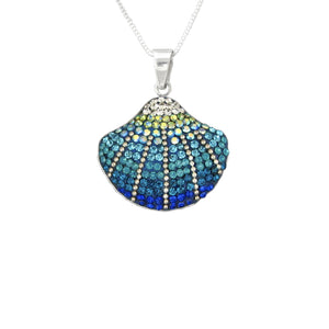 Mosaico Seashell Necklace-Blue