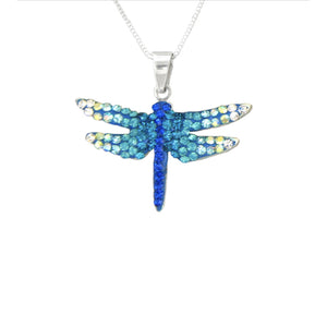 Mosaico Small Dragonfly Necklace-Blue