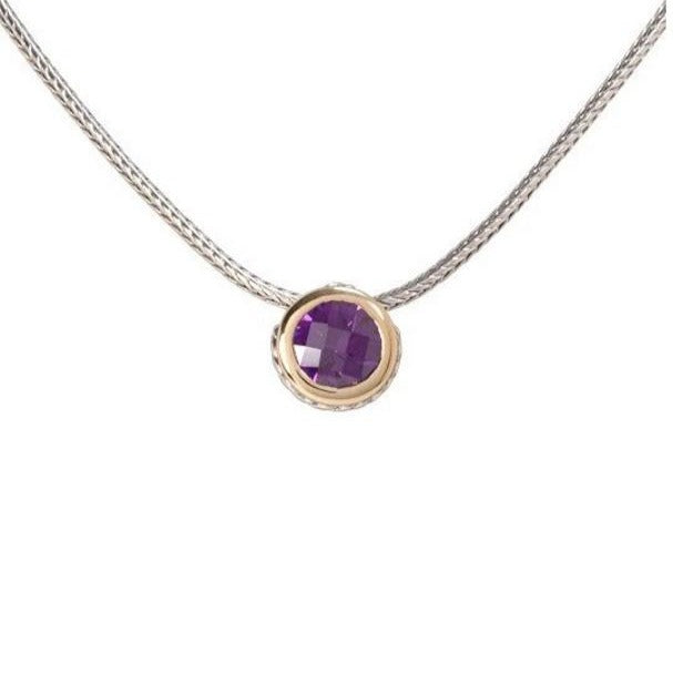 Oval Link Collection CZ Solitaire Necklace