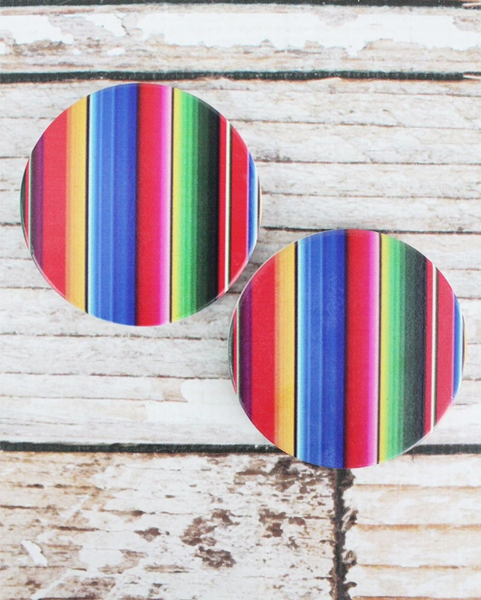 2 Piece Serape Car Coaster Set