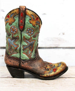 Light Green Bird & Flower Boot
