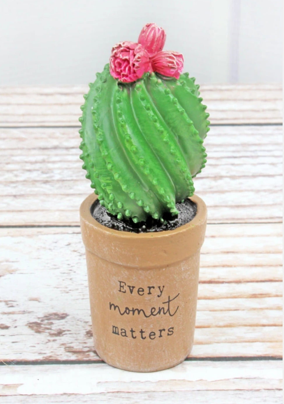 Every Moment Matters Mini Resin Cactus