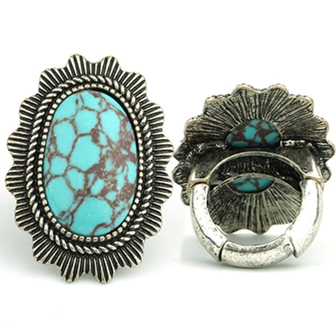 Antiqued Turquoise Ring