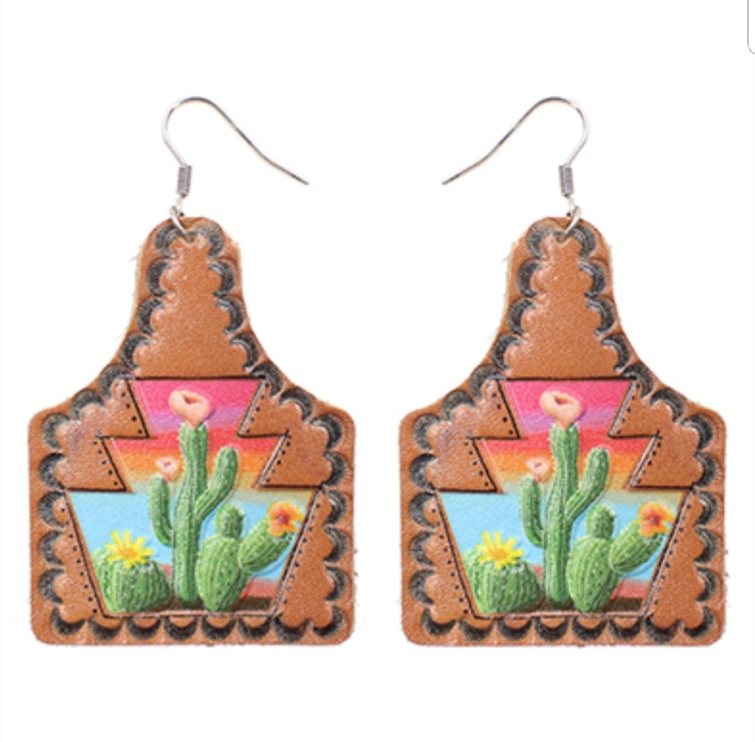 Cactus Sunset Earings