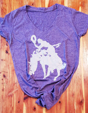 Load image into Gallery viewer, Cowgirl Bronc Rider Tee