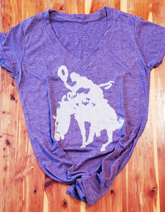 Cowgirl Bronc Rider Tee