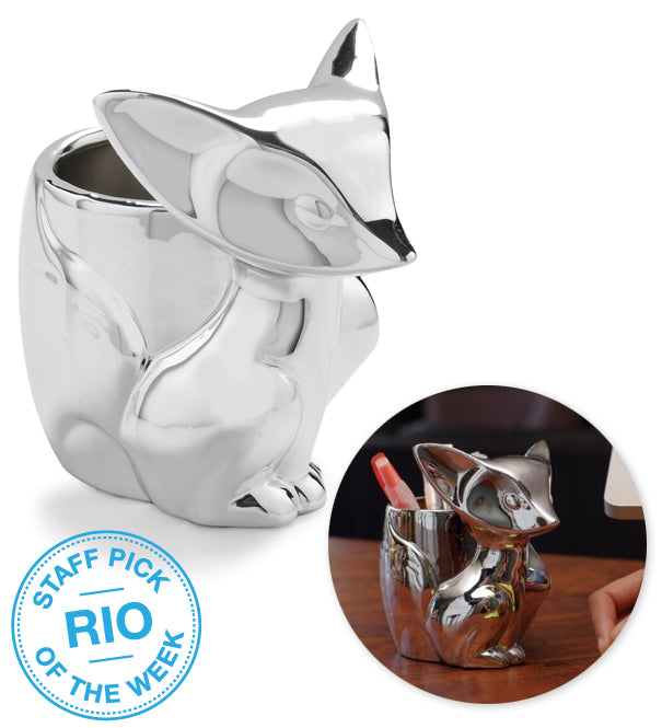 Gamago Silver Fox Desk Organizer Staff Pick