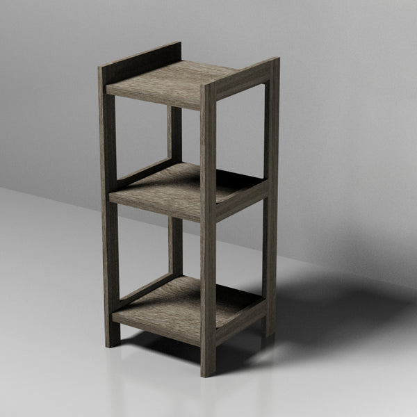 3 Tier Grey MDF Shelf
