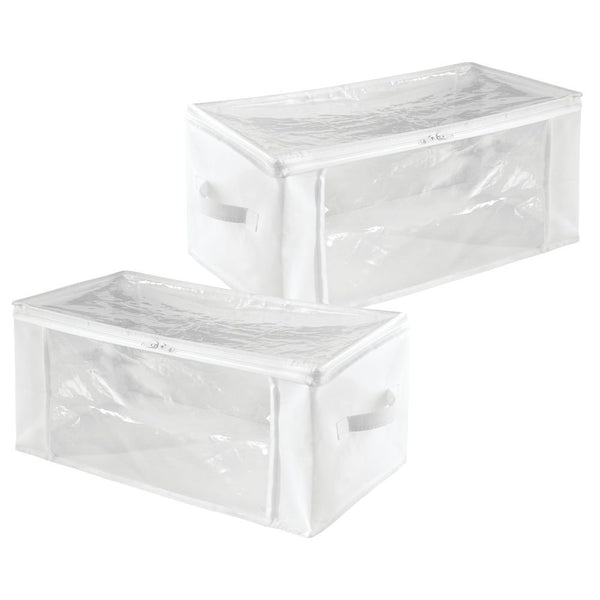 Storage Zipper Bag - Large (Set of 2) White/Clear