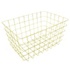 Gold Rectangular Wire Basket