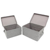 Grey Folding Box With Lid