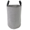 Grey Polyester Round Basket