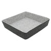 2 Tone Grey Felt Square Basket