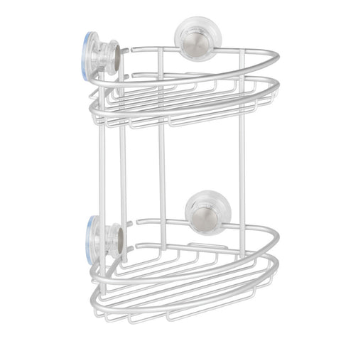Metro Aluminum Turn-N-Lock 2 Tier Corner Basket
