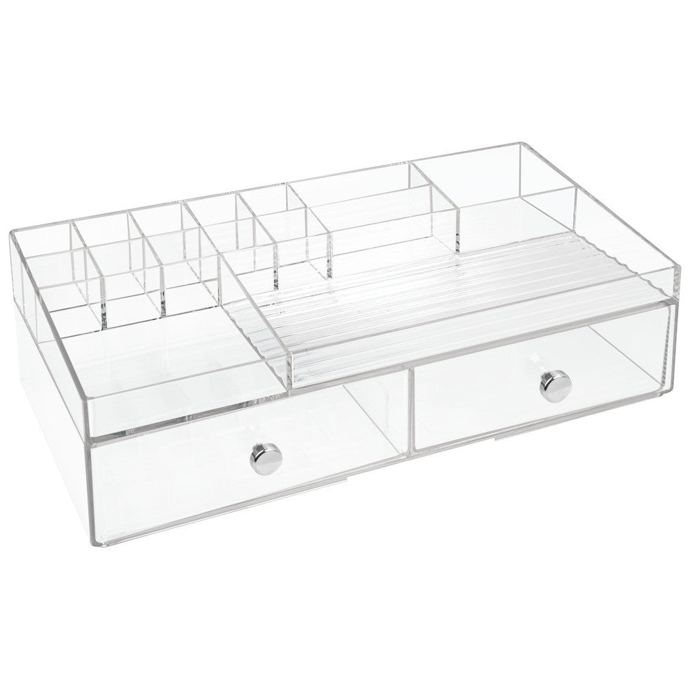 Drawers Cosmetic Organizer | 2 Drawer Clear