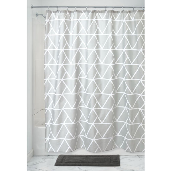 Connected Triangles Shower Curtain Grey
