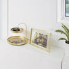 Poise 2 Tiered Tray | Brass
