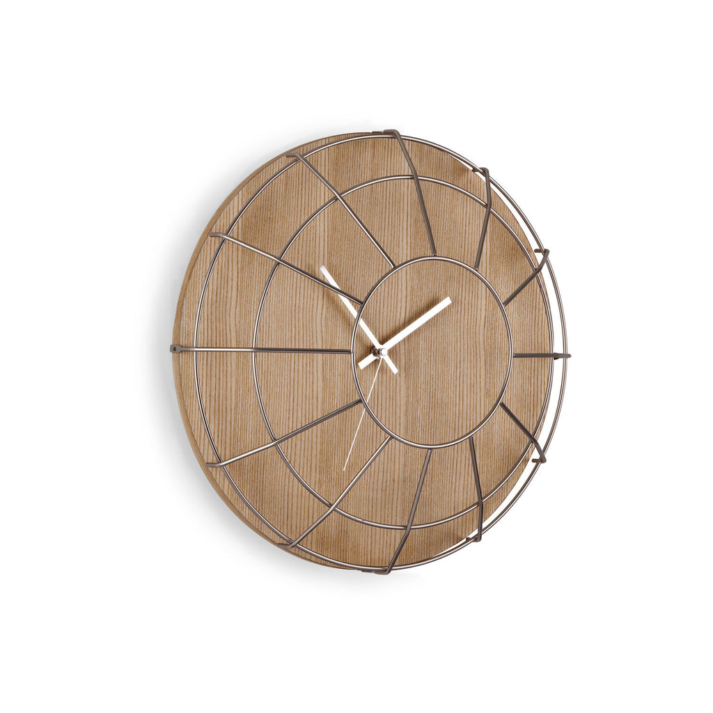 Cage Wall Clock Natural