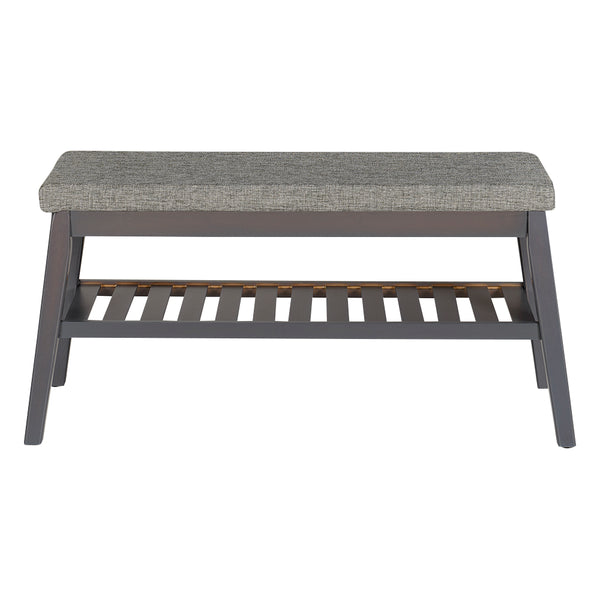 Fabric Wooden Bench with Cushion