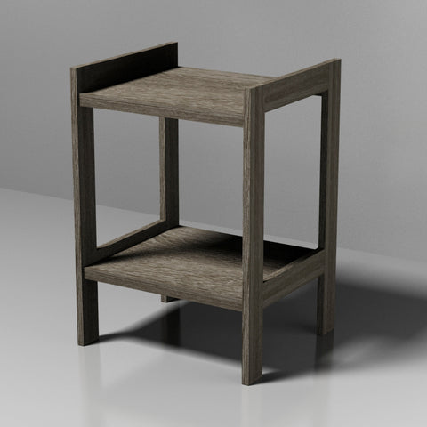 2 Tier Grey MDF table
