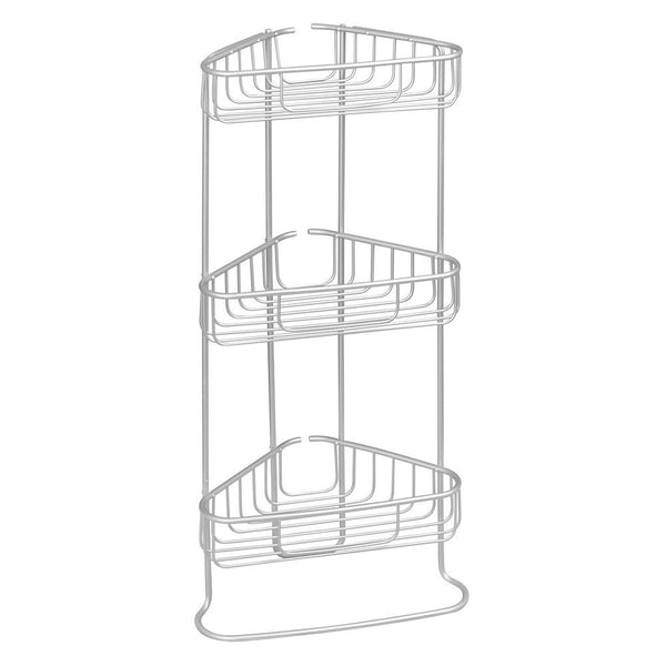 Metro Aluminum 3 Tier Corner Shower Shelf Silver