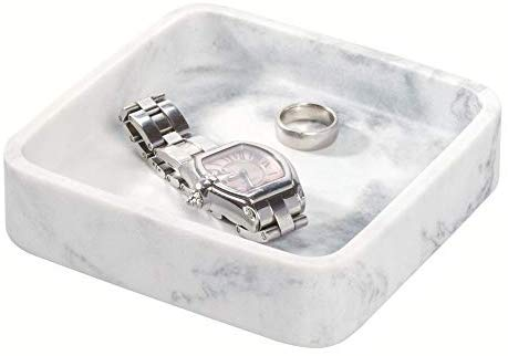Dakota Small Tray White Marble