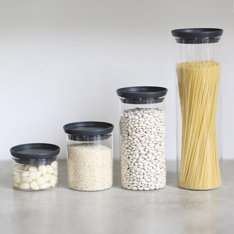 Stackable Glass Jars