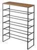 TOWER 6 Tier Wood Top Shoe Rack