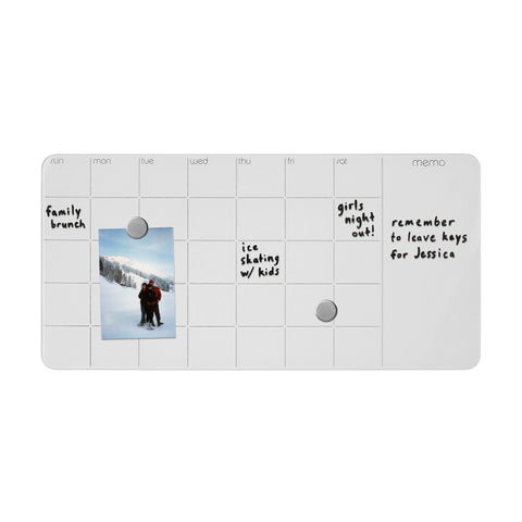 Magnetic Glass Dry-Erase Monthly Planner + Memo Board