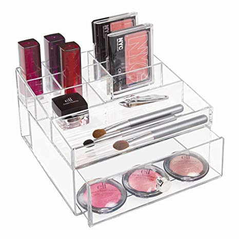 Clarity Cosmetic Organizer With Drawer