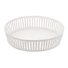 TOWER Striped Steel Fruit Basket Shallow WH