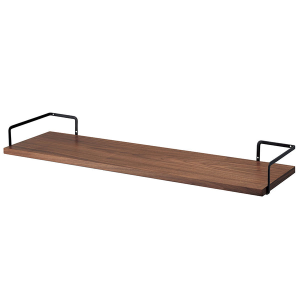 TOWER Wall-Mounted Wood Shelf Black