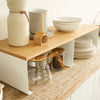 TOSCA Wood-Top Stackable Kitchen Rack Large WH