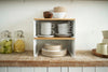 TOSCA Wood-Top Stackable Kitchen Rack Small WH