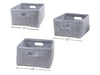 Square Felt Storage Basket Light Grey
