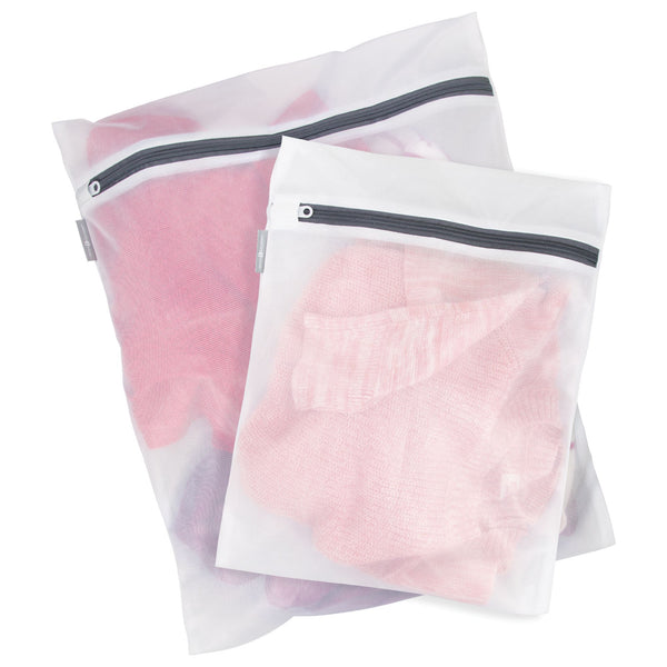 Mesh Wash Bags (2pc set) White