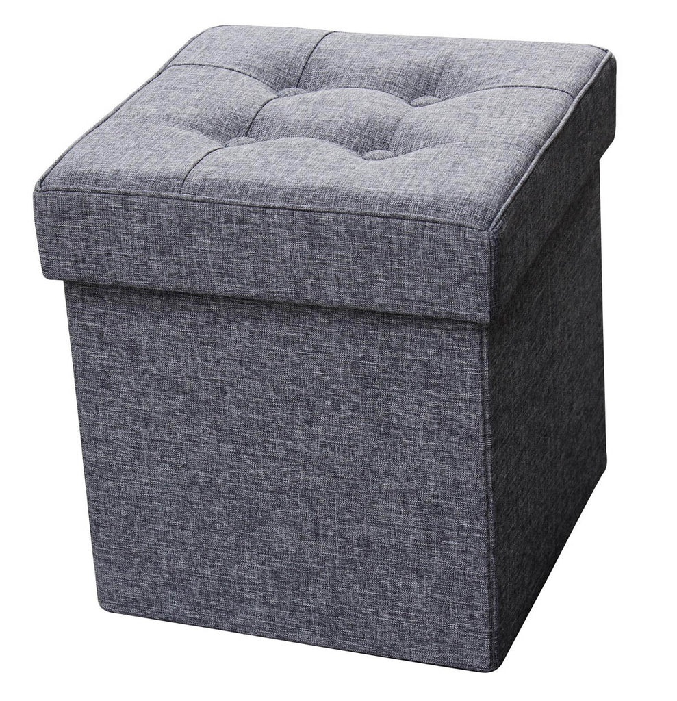 Folding Fabric Storage Ottoman