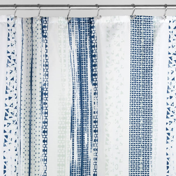 Geo-Multi Stripe Shower Curtain