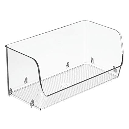 Stacking Organizer Bin | Wide Open Front