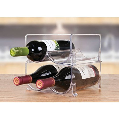 Linus Stackable Wine and Water Bottle Rack 2