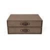BIRGER Canvas Two-Drawer Chest