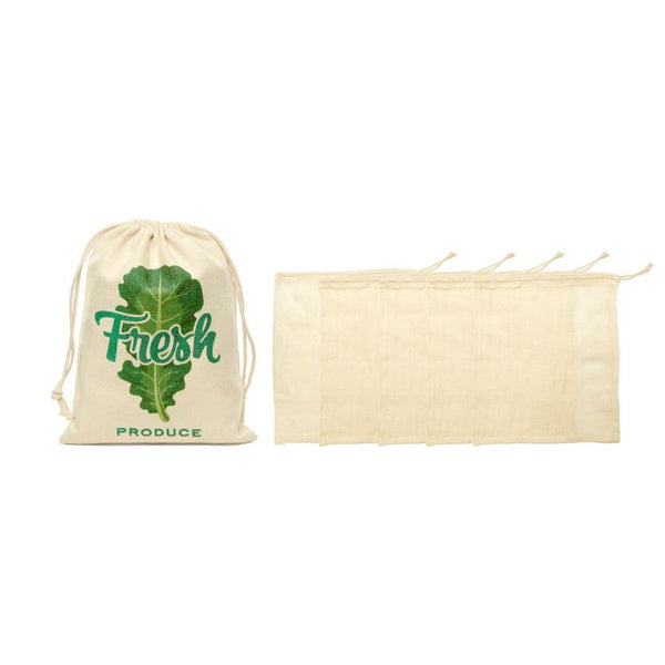 COTTON MESH PRODUCE BAGS S/5