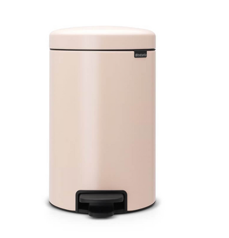 Clay Pink Pedal Bin 12 Litre
