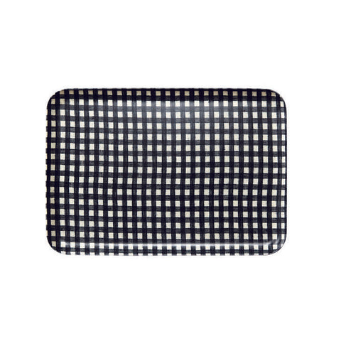 LINEN TRAY NAVY WHITE CHECK
