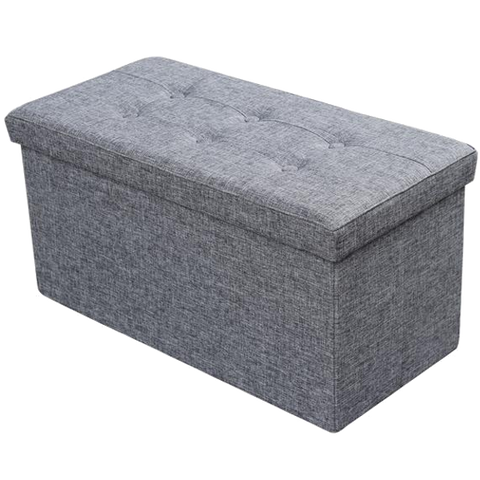 Large Folding Fabric Storage Ottoman