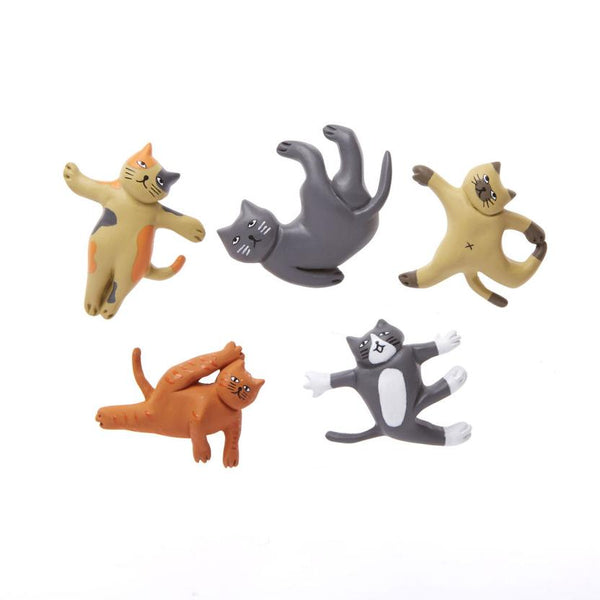 Cat Yoga Magnets (set 5)