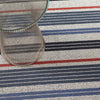 Mixed Stripe Shag Mat