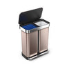 58L Rectangular Step Can with Liner Pocket | Dual Compartment Recycler
