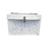 Folded Edge Felt Basket Light Grey
