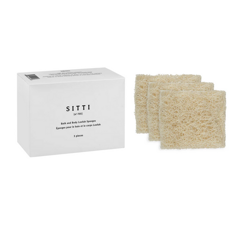 Bath & Body Natural Loofah Sponge (Set of 3)